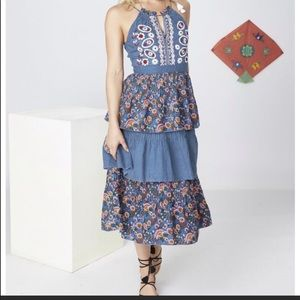 "NWT Anthropologie Kopal ""Izzy"" Midi Dress"